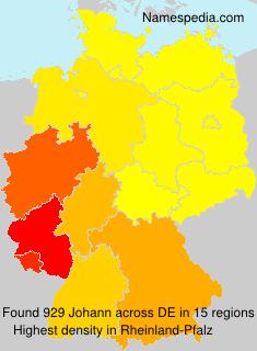 Surname Johann in Germany