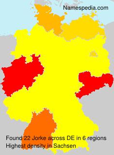 Familiennamen Jorke - Germany
