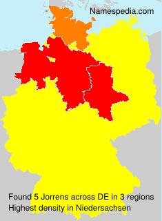 Familiennamen Jorrens - Germany