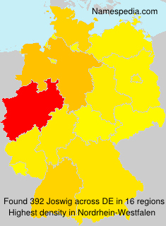 Surname Joswig in Germany