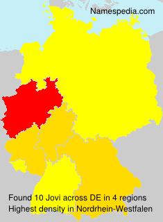 Surname Jovi in Germany