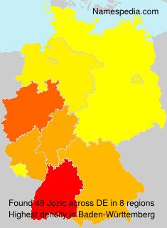 Surname Jozic in Germany