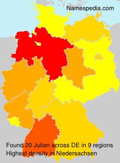 Familiennamen Julian - Germany
