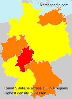 Familiennamen Juliane - Germany