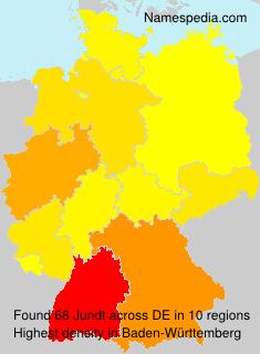 Familiennamen Jundt - Germany