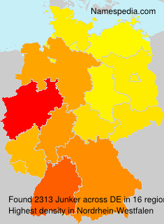 Surname Junker in Germany