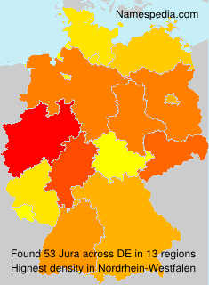 Surname Jura in Germany