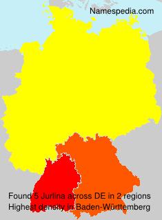 Familiennamen Jurlina - Germany