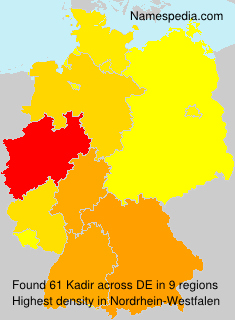 Surname Kadir in Germany
