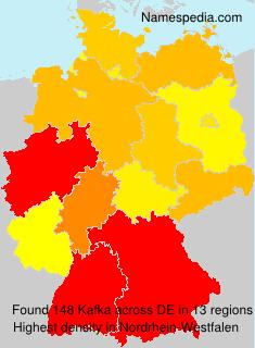 Surname Kafka in Germany