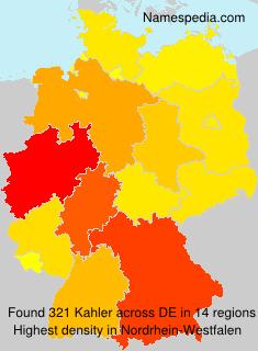 Surname Kahler in Germany