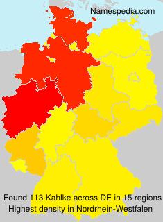 Surname Kahlke in Germany