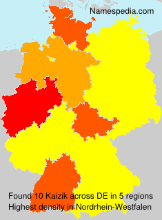 Surname Kaizik in Germany