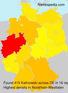 Surname Kalinowski in Germany
