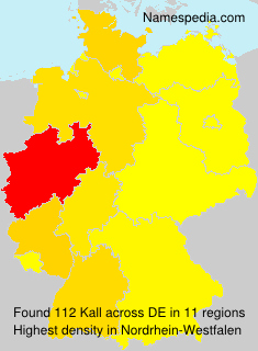 Surname Kall in Germany