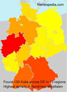 Familiennamen Kalla - Germany