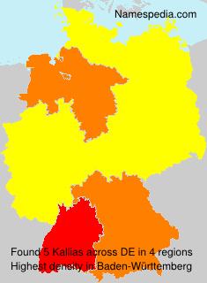 Surname Kallias in Germany