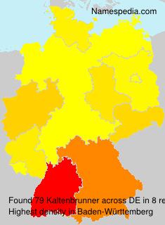 Familiennamen Kaltenbrunner - Germany