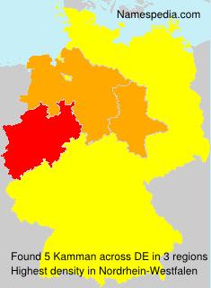 Familiennamen Kamman - Germany