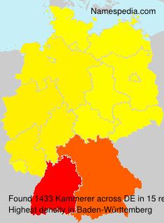 Surname Kammerer in Germany