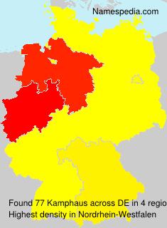 Surname Kamphaus in Germany