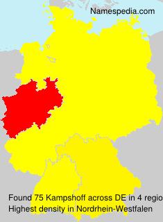 Surname Kampshoff in Germany