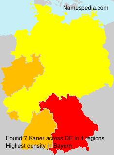 Surname Kaner in Germany
