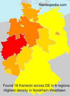 Surname Kaniecki in Germany