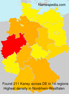 Surname Kansy in Germany