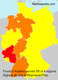 Surname Kapitein in Germany