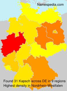 Surname Kapsch in Germany