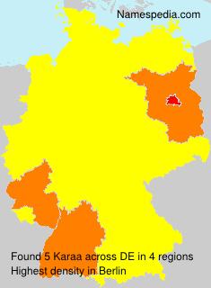 Surname Karaa in Germany
