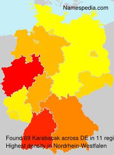 Surname Karabacak in Germany
