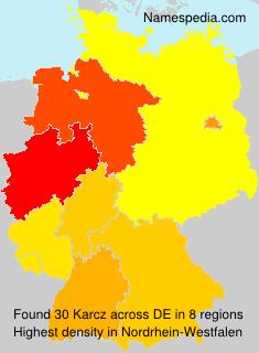 Surname Karcz in Germany