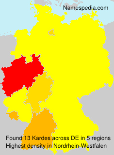 Familiennamen Kardes - Germany