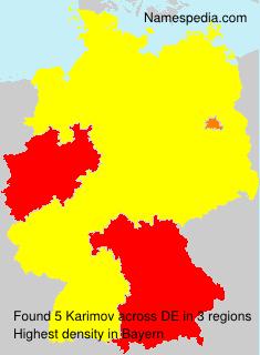 Surname Karimov in Germany