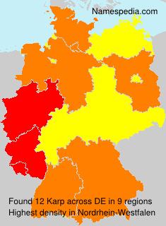 Surname Karp in Germany