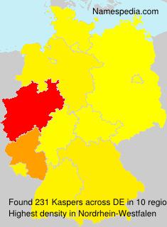 Surname Kaspers in Germany
