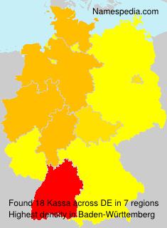 Familiennamen Kassa - Germany