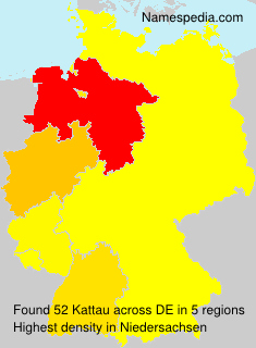 Familiennamen Kattau - Germany