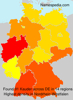 Surname Kauder in Germany