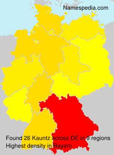 Surname Kauntz in Germany
