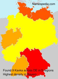 Surname Kavka in Germany
