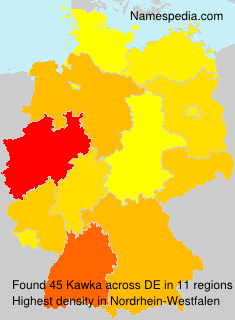 Familiennamen Kawka - Germany