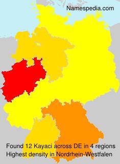 Familiennamen Kayaci - Germany