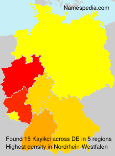 Familiennamen Kayikci - Germany