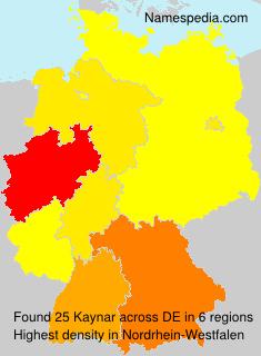Surname Kaynar in Germany