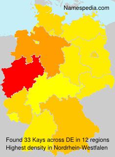 Surname Kays in Germany