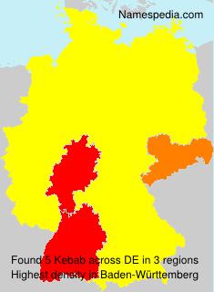 Surname Kebab in Germany