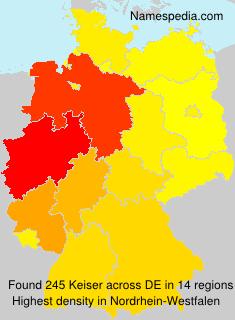 Surname Keiser in Germany